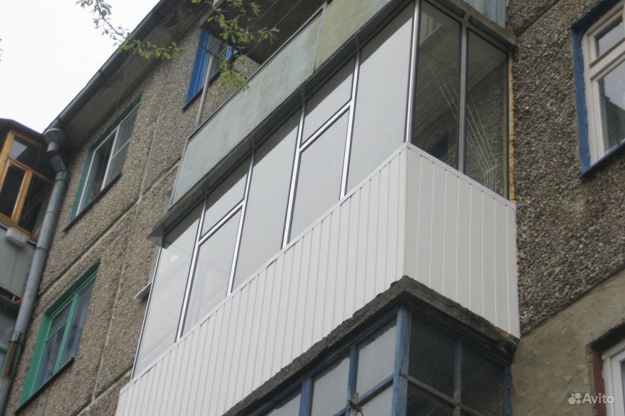 Холодное железное остекление балконов и лоджий..
