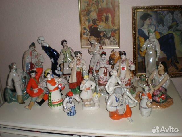 статуэтки фарфоровые советские фото