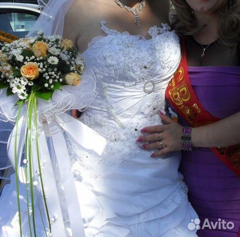 Объявление о продаже Свадебное платье в Краснодарском крае на AVITO.ru.  Красивое платье для невесты.