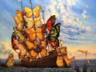 Картина ''Departure of the Winged Ship''