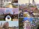 Картины «Весна, Поле в цветах» и миниатюра