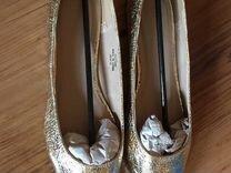 Балетки туфли золотые — Одежда, обувь, аксессуары в Санкт-Петербурге