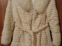 Шуба белая кролик — Одежда, обувь, аксессуары в Санкт-Петербурге