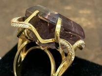 Кольцо с аметрином и бриллианты