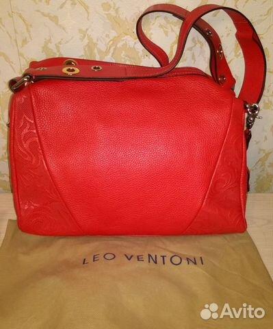 b5d175541b44 Новая женская кожаная сумка Leo Ventoni красная купить в Москве на ...