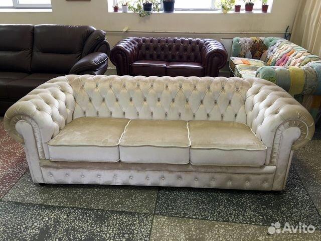 диван честер белый велюр купить в москве на Avito объявления на