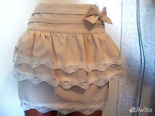 клетчатые юбка с жилетом
