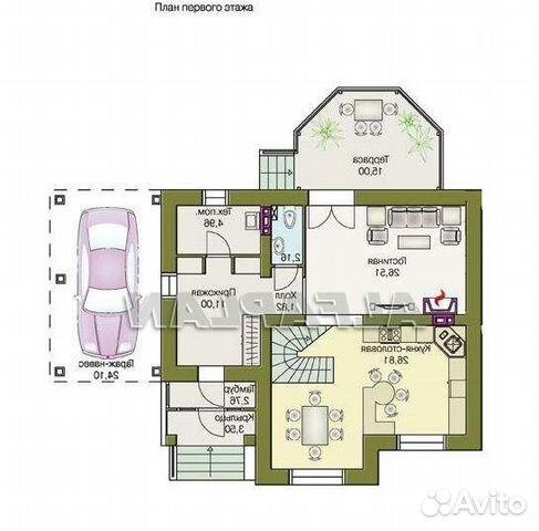 Коттедж 140 м² на участке 10 сот. 89204459938 купить 7