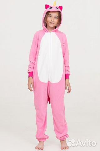 Пижама-кигуруми единорог розовый 140см 461d46e9336fe