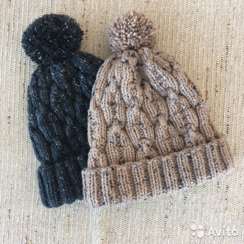 мужские вязаные шапки ручной работы на осень Festimaru