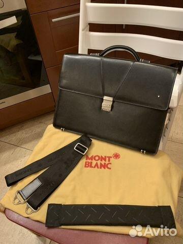 093904886ae6 Мужской кожаный деловой портфель Montblanc новый купить в Москве на ...