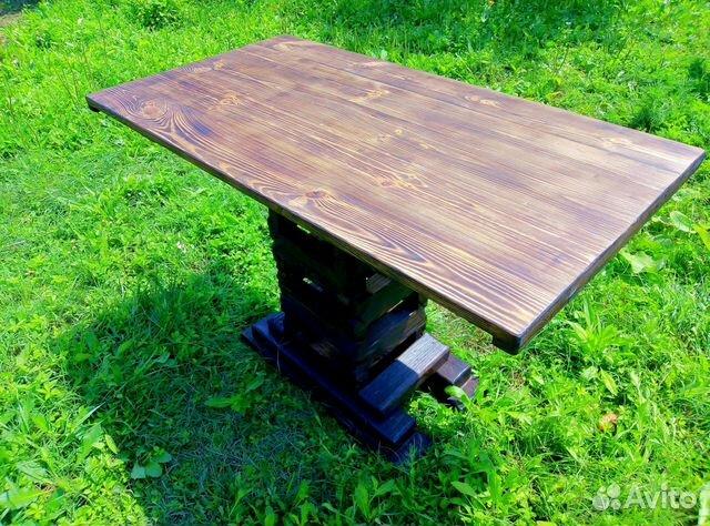 стол из массива дерева под старину купить в краснодарском