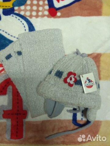 Комплект новый (шапка и шарф) для девочки