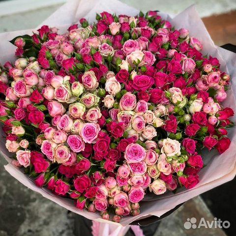 Купить кустовые розы в Уфе, заказать букет из больших кустовых роз ... | 480x480
