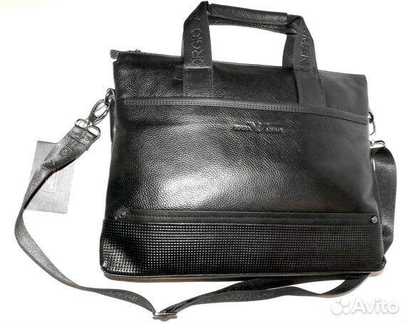48a0d6de4846 Мужская сумка из натуральной кожи Armani black new купить в Москве ...
