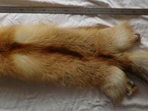 Мех лисы-огневки и шкурка барсука