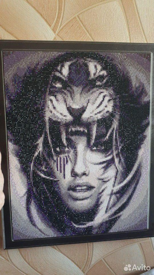 Картина алмазная мозайка женщина Тигр  89081068825 купить 1