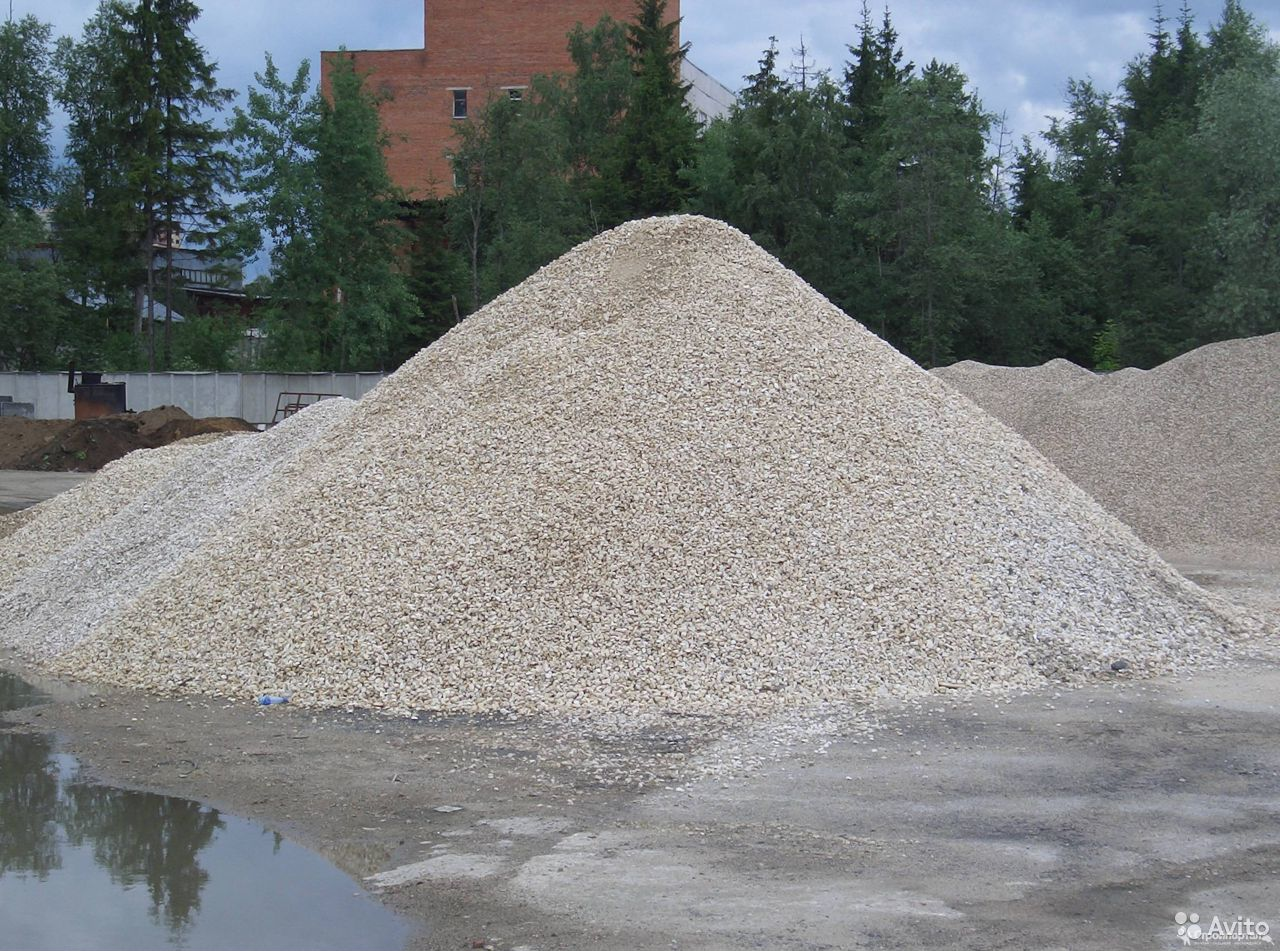 Щебень, песок от 1 куба