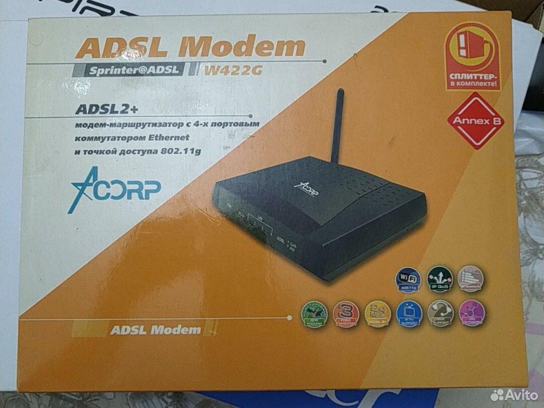 Модем adsl modem acorp addl2+