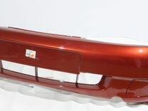 Бампер 1118 передний цвет калина