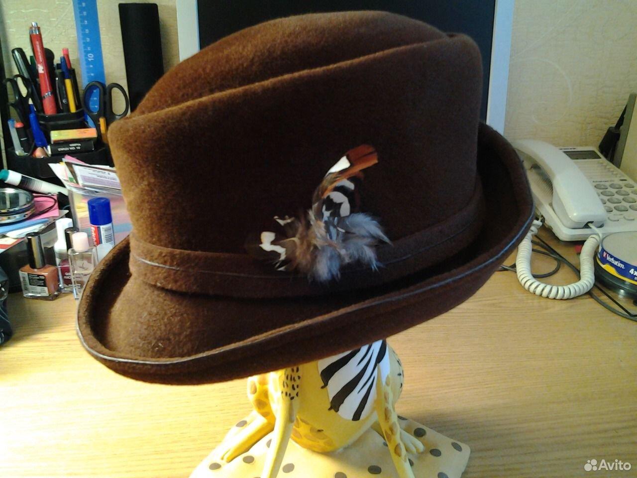 Шляпа коруна, р.56, велюр, новая  89137409809 купить 1