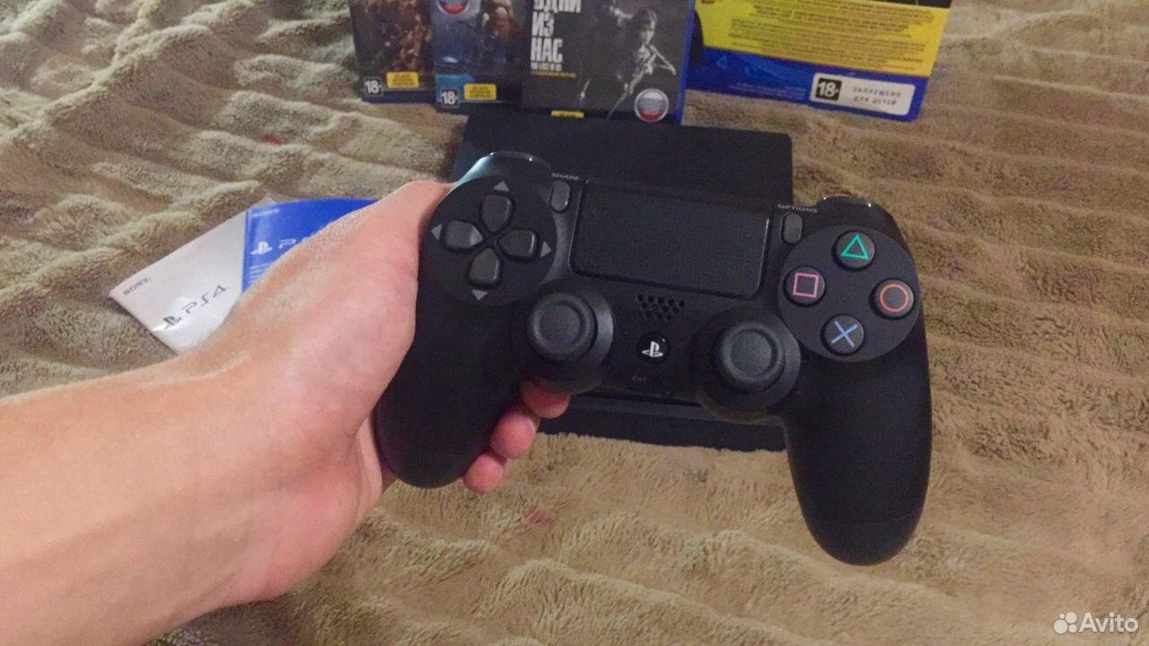 Sony PS4 Slim 1TB, новая, на гарантии + игры 89038918724 купить 3