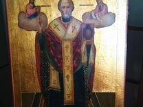 Храмовая икона Николая Чудотворца на золоте.105/76 — Мебель и интерьер в Москве