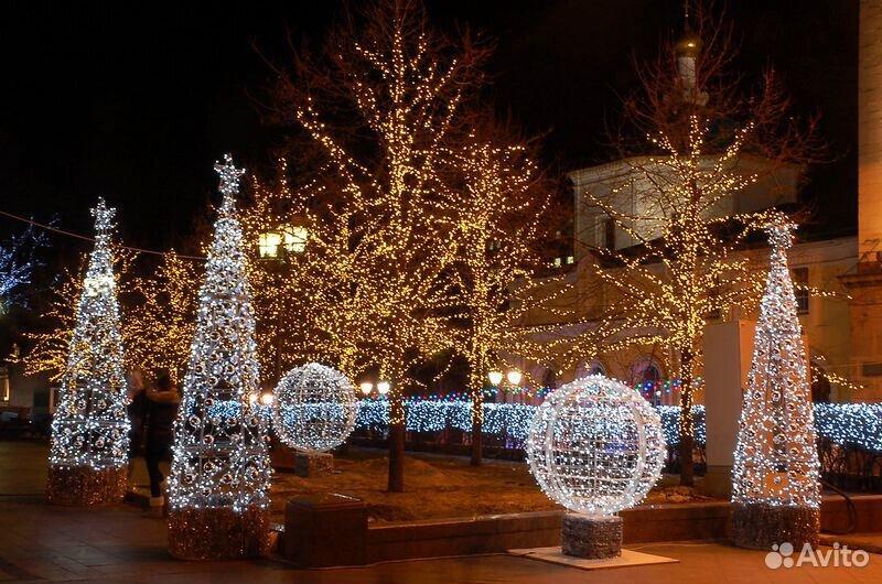 Гирлянды на дерево новогоднее оформление  89613169763 купить 5
