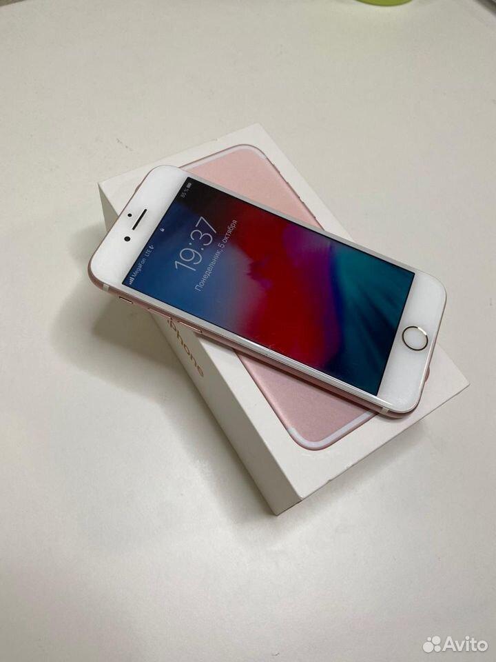 iPhone 7 (розовый) 128 GB в отличном состоянии  89002455392 купить 3