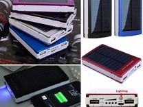 Внешний аккумулятор 20000mAh на солнечной батарее