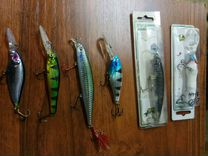 Рыболовные снасти (крючки, воблера )