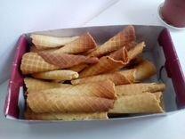 Вафельные трубочки с кремом и без крема