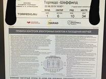 Билет на футбол Торпедо-Шеффилд