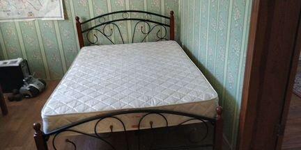 Кровать двухспальная с матрасом 180 200 - Мебель и интерьер - Объявления в Марксе