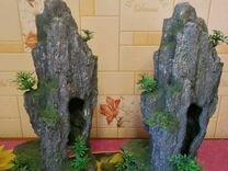 """Грот"""" Скала с пещерой и растениями"""""""