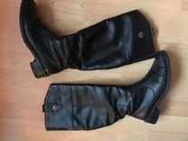 Зимние кожаные сапоги марки Rieker — Одежда, обувь, аксессуары в Санкт-Петербурге