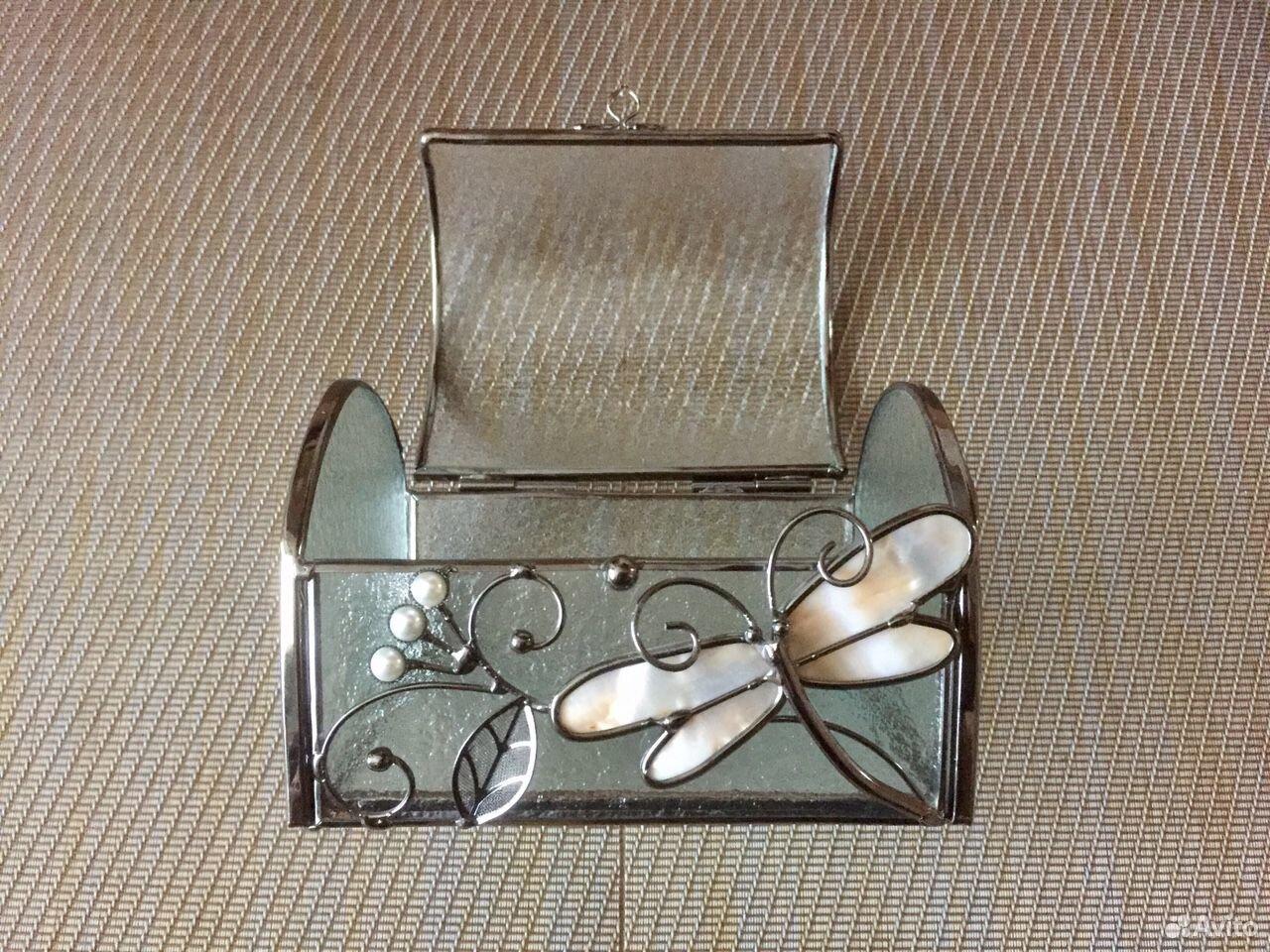 Шкатулка стекло+сталь+перламутр  89069076084 купить 3