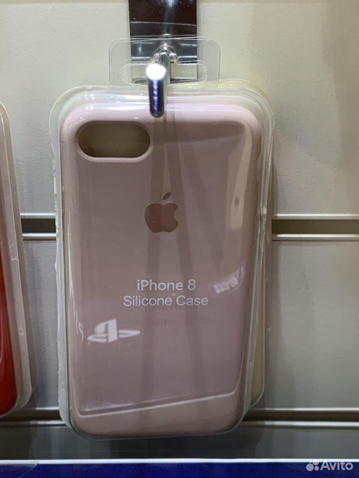 Apple silicone case iPhone 8 розовый  89217104292 купить 1