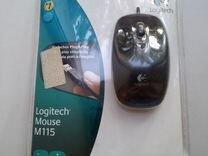 Мышь logitech M115, проводная